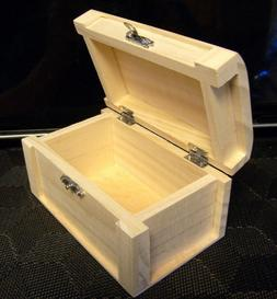 1 Unfinished SMALL Wood Craft Display Trinket Storage Box Or