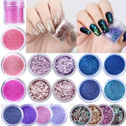 10ml Nail Art Glitter Powder Dust Nails Sequins Flakes 3D Na