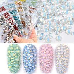 1728Pcs Nail Art Rhinestones Glitter Crystal Gems Tips  3D N