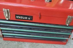 Husky 21 ins Portable Steel Toolbox Red