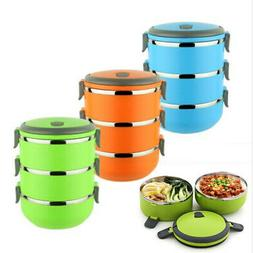 3-Layers Stainless Steel Thermal Insulated Lunch Box Bento P