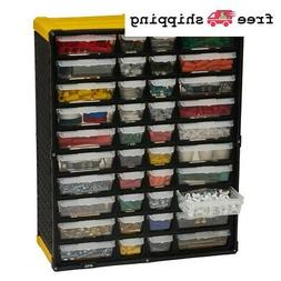 40 Compartment Small Parts Organizer Tool Storage Rack Garag