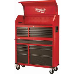 46 in. 16-Drawer Steel Tool Chest and Rolling Cabinet Set, T