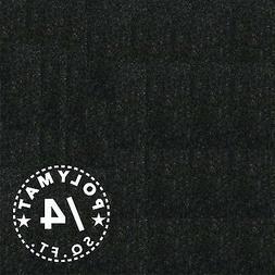 "48""W Black Carpet Fabric Hook+Loop Receptive Trade show back"