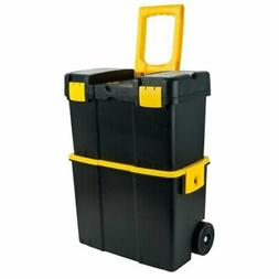 - 75-3042 Stackable Mobile Tool Box with Wheels Black, Yello