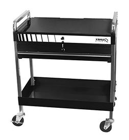 Sunex Tools 8013ABK Service Cart with Locking Top and Drawer