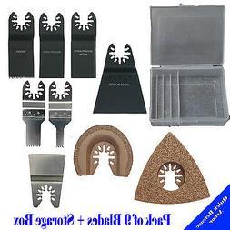 9+Box Saw Blade Oscillating Multi Tool Black and Decker Fein