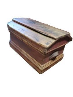 Antique master Carpenters coffin casket styleTool Box Chest