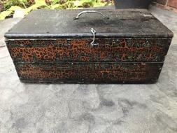 antique wooden tool box