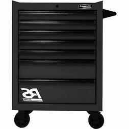 Homak BK04027770 RS Pro Series 7 Drawer Black Roller Tool Ca