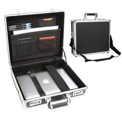 Black Aluminum Men's Attache Briefcase Business Hard Case Or