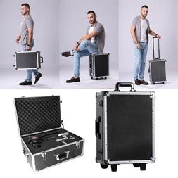 Black Aluminum Rolling Trolley Case Toolboxes with Wheels/Li