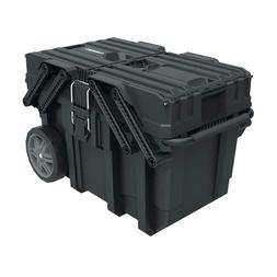 Husky 15 Gal Cantilever Mobile Job Box Tool Cart Storage Por