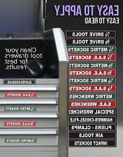 Tool Box Organizer Labels - Green Adhesive Edition - Tough F