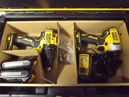 Dewalt Drill/Driver Set with Charger, Two Batteries, and Too
