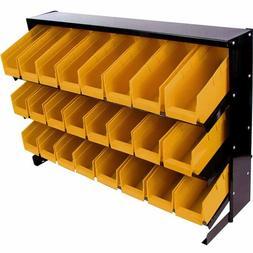 Garage Tools Storage Organizer Hanging 24 Bins Wall Rack Tra