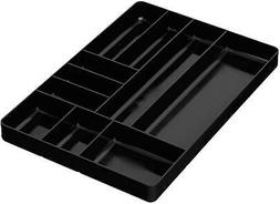 Home and Garage Organizer Tray 10-Compartments Black 5011 Pe