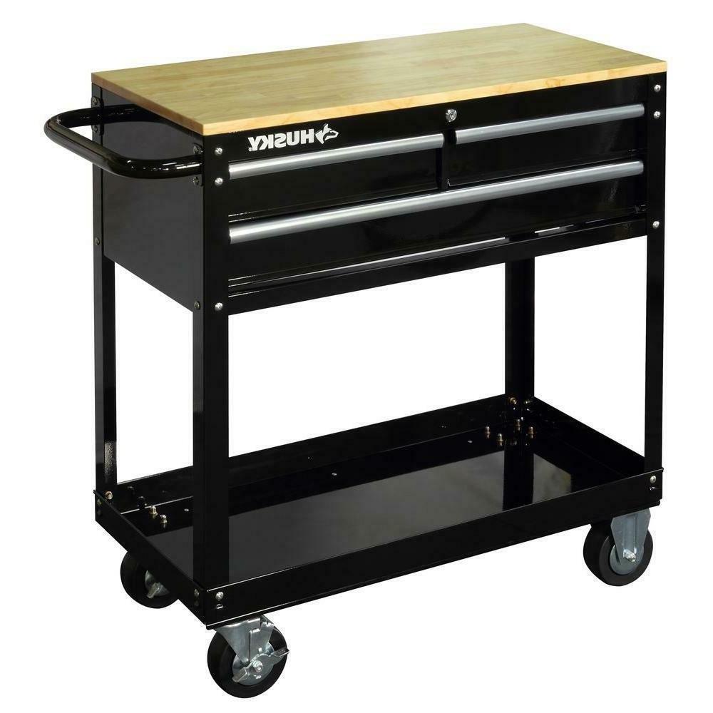 garage 3 drawer rolling tool cart