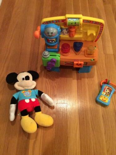 toddlers fisher price tool box and disney