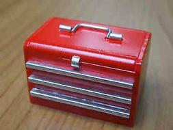 MINIATURE DOLLHOUSE 1:12 SCALE MODERN RED TOOL BOX  - M77