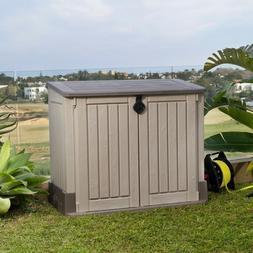 Outdoor Storage Cabinet Plastic Shed Tool Box Patio Garage U