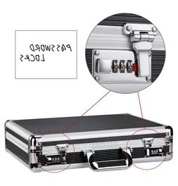Password Lock Aluminum Hard Briefcases with File Pocket Suit