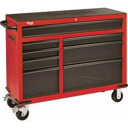 Milwaukee Roller Cabinet Tool Chest 46 in. 8-Drawer Red Blac