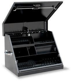 "Rugged 26"" Black Triangle Tool Box Storage Weather Guard Tru"