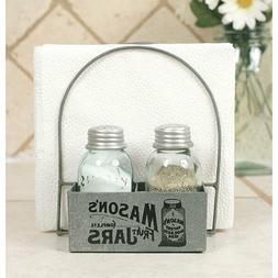 Saltbox House Mason Jar Salt and Pepper Shakers Kitchen Seas