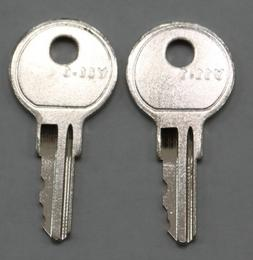 set of 2 replacement keys cut to your HON file cabinet key c