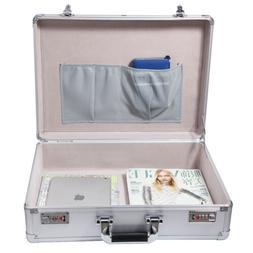 silver mens business briefcase book certificate aluminum