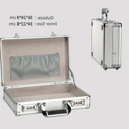 Small Aluminum Mens Briefcase Portable Flight Cabin Crew Bus