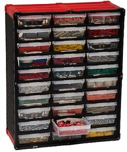 Small Parts Organizer 30 Compartment Plastic Tool Storage Ra
