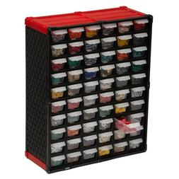 SMALL PARTS ORGANIZER 60-Compartment Drawer with Label Inser