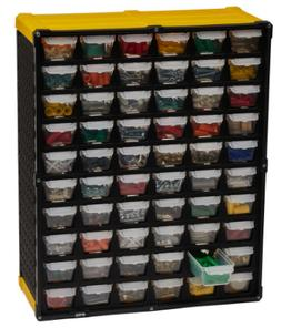Small Parts Organizer 60 Compartment Plastic Tool Storage Ra