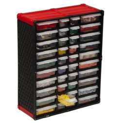 Small Plastic Parts Organizer Tool Storage Rack Bin Drawer N