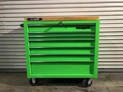 """Snap-On 7 Drawer KRA4107FPJJ 40"""" Extreme Green Roll Cab To"""