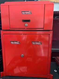 Snap on Snapon Snap-on small red jewery sample box. two piec