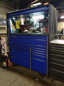Snap on tool box with hutch and locker