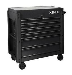 Sunex SUU-8035XTFDBK 6 Drawer Slide Top Service Cart W/ Powe