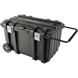 HUSKY Tool Box Black Chest With Wheels Mobile Utility box 32