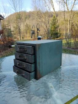 Vintage 4 Drawer Metal Tool Box Ward's Master  Quality with