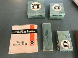 Vintage, Dewalt Black and Decker Power Tool pieces in box