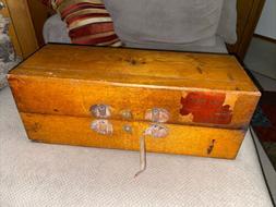 vintage sales and book keeping system wood