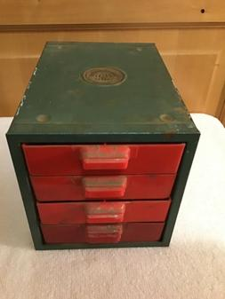 WOW Vintage DRAWERS BINS Box Cabinet Metal Shop Tool Industr